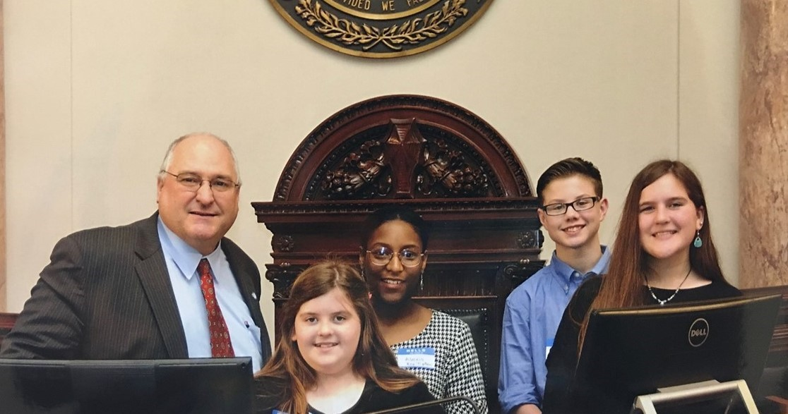 students with state representative