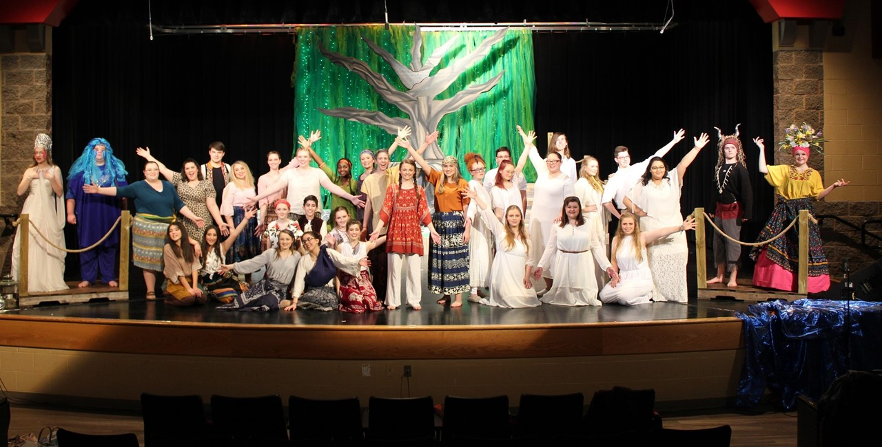 ACHS Theatre Students performing Once on this Island
