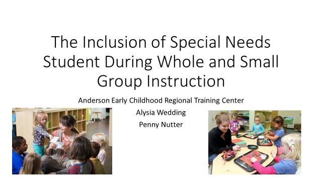 PP Slide The inclusion of Special Needs Students