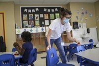 Sanitize classroom